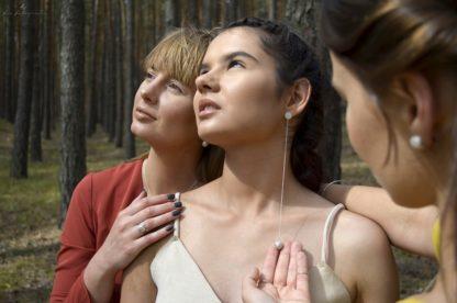 Długie wiszące kolczyki dla kobiet odważnych ze srebra próby 925