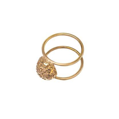 autorski mosiężny pierścionek dla kobiet z klasą.