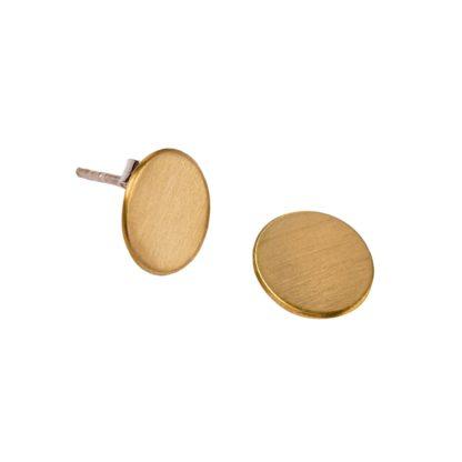 minimalistyczne proste kolczyki koła mosiężne handmade