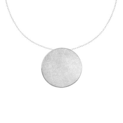 Naszyjnik minimalistyczny ze srebra.